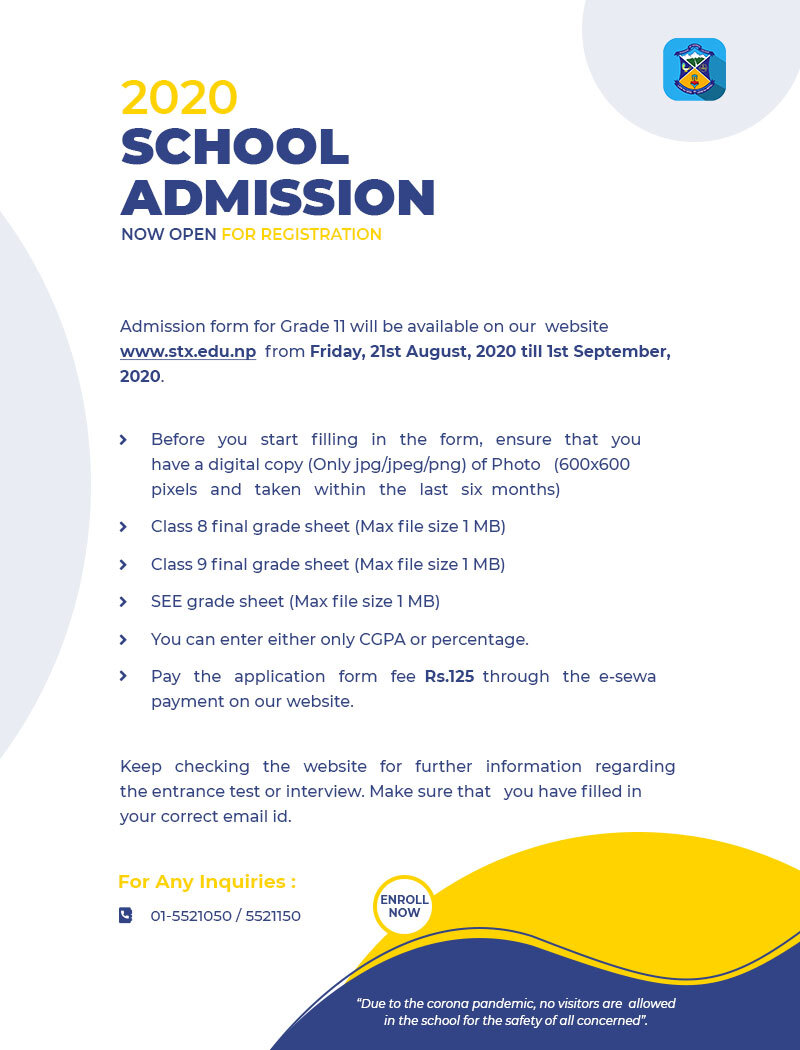 ADMISSION NOTICE FOR GRADE 11