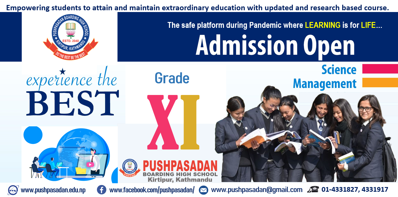 Admission Open for Grade 11 (Science & Management)
